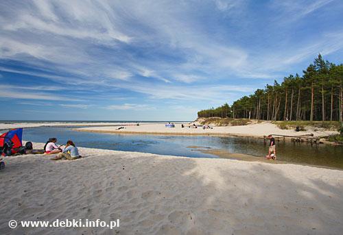 Dębki plaża - rolewisko Piaśnicy